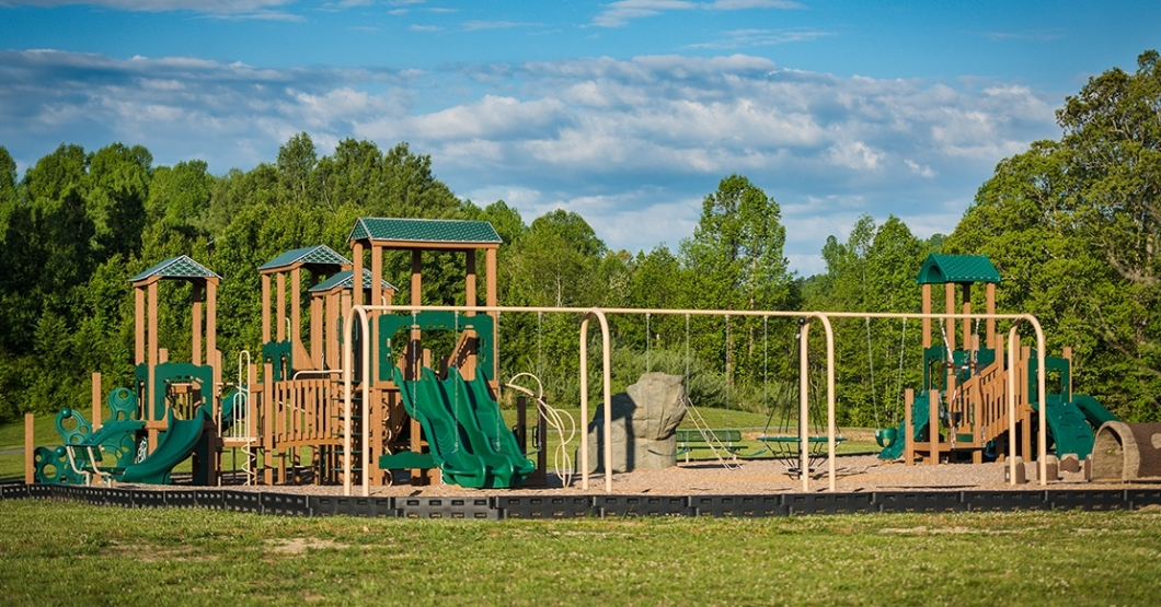 recycled playground at tuxedo park in north carolina