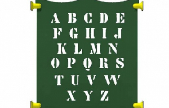 alphabet panel for commercial playground equipment