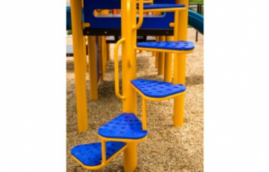 spiral climber for playgrounds