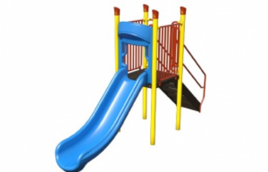 straight playground slide
