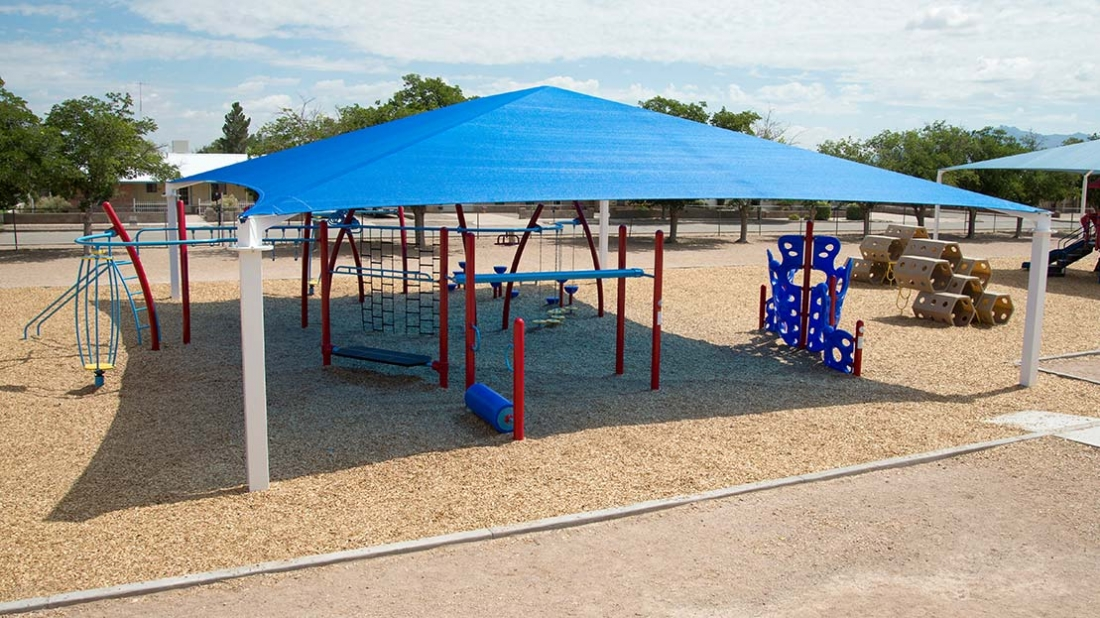 shaded active playground for kids